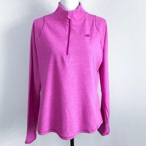 New Balance Dry 1/4 Zip Fleece Pullover Pink Sz XL